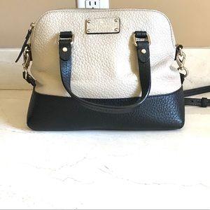 Kate Spade Handbag Purse Cream Black Crossbody